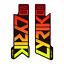 STAR SAM® Gradient Fahrrad aufkleber Gabel ROCK SHOX LYRIK Select Adhesives