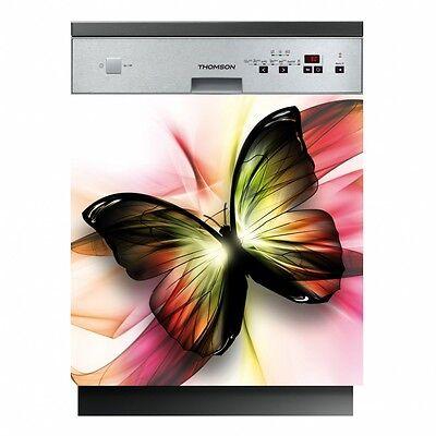 Sticker lave vaisselle Fleurs Papillons 60x60cm Réf 163