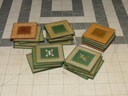 LOT OF 25 GREEN BROWN FIBER NO METAL CPU FOR GOLD RECOVERY OR COLLECTION
