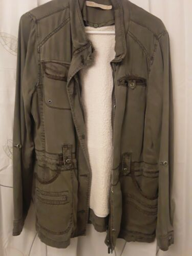 Max Jeans Women Size Small 100% Tencel Military Sa