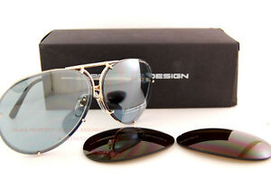 48e7b93531d Image is loading Porsche-Design-Sunglasses-P8478-8478-A-Gold-Interchangeable -