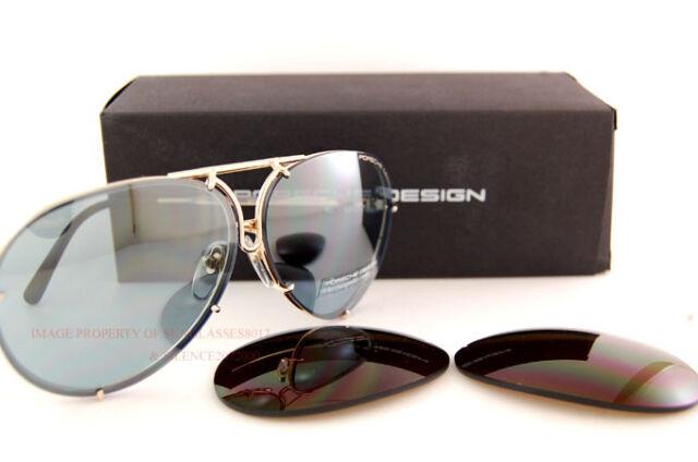421074d88d97 Porsche Design Sunglasses P8478 8478 A Gold Interchangeable Lenses Men  Women 63