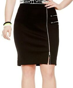 CHIC MYNT 1792 BLACK SCUBA PENCIL SKIRT. PLUS SIZES 16,18 & 26 ...