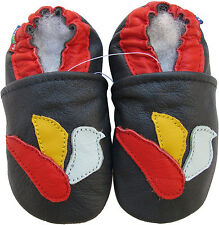 new soft sole leather baby dove dark blue 6-12m