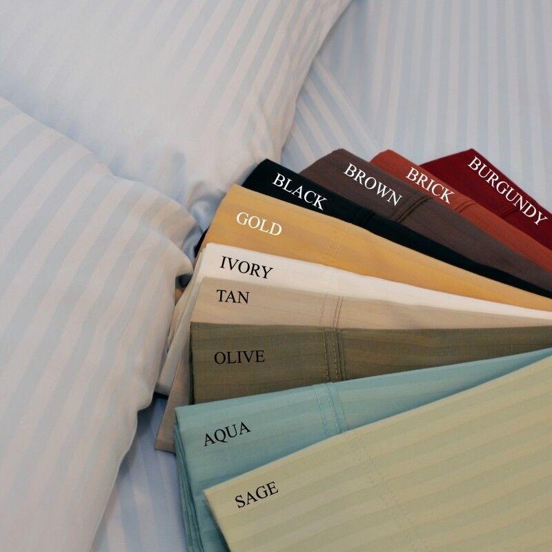 Top Class 6 PCs Sheet Set 1000 TC Egyptian Cotton Only Stripe colors All US Size