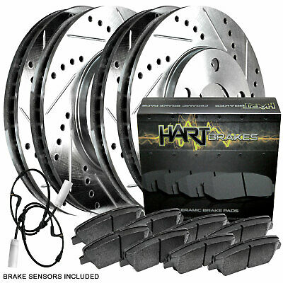 2 FRONT + 2 REAR 4 Platinum Hart *DRILLED /& SLOTTED* Disc Brake Rotors 2937