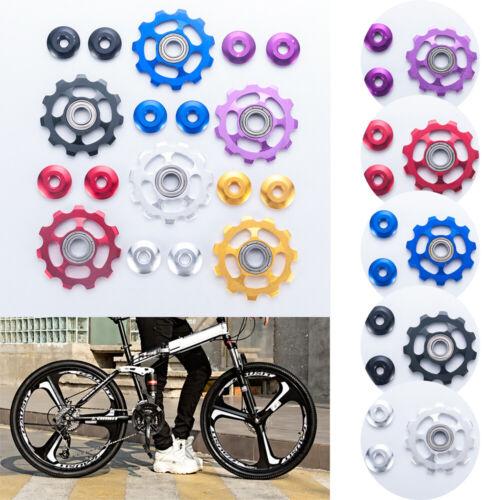11T Aluminium Jockey Wheel MTB Bicycle Rear Derailleur Pulley Guide Bearing 1set