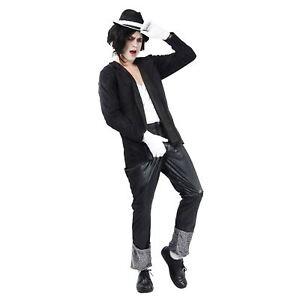 pequeno-para-hombre-blanco-y-Negro-Traje-Anos-80-SuperStar-cantante-Bailarina