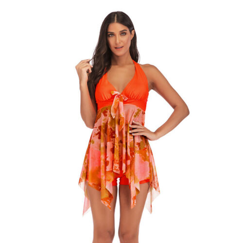 Damen Bikini Set Bademode Badeanzug Beachwear Tankini Strand Badekleid Badeshort