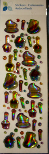 NEW 66 pc CAKE TIME BUBBLES /& BLING Candles Cupcakes Bubble  ATD 3D Stickers