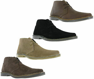 Details zu Roamers Suede Leather Desert Boots Mens 2 Eye Chisel Toe Ankle Fashion Shoes