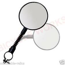 Bicycle Handlebar Mirror Handle Bar End Mount Rear View Flexi Convex Safety 307
