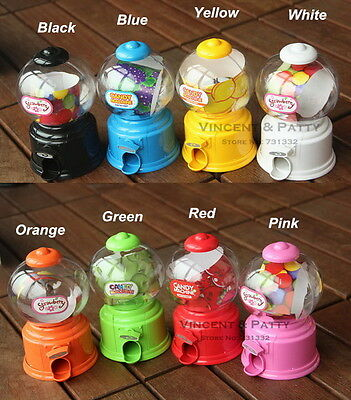 Cute Sweets Mini Candy Machine Bubble Gumball Dispenser Coin Bank Kids Toy ID