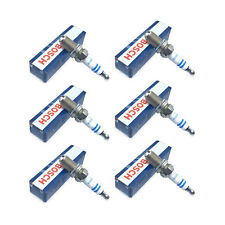 Set of 6 Spark Plugs Bosch For Audi A4 A6 Quattro BMW E30 E34 E36 Honda Accord