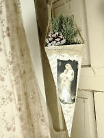 Nostalgische Spitztüte Weihnachten Spitze Engel Shabby Vintage Landhaus Deko
