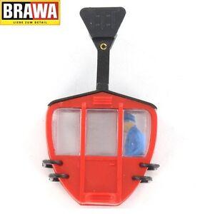 Brawa-H0-6281-Seilbahn-Kabine-einzeln-rot-mit-Figur-NEU-OVP
