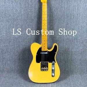Electric-Guitar-Relic-Nitrolacquer-Stain-Finish-Humbucker-Alnico-Pickups