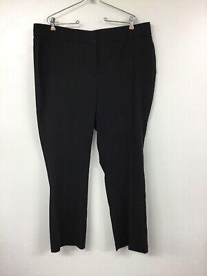 18ws Lark & Ro Women's Plus Size Bootcut Trouser Pant: Curvy Fit Black Nwt