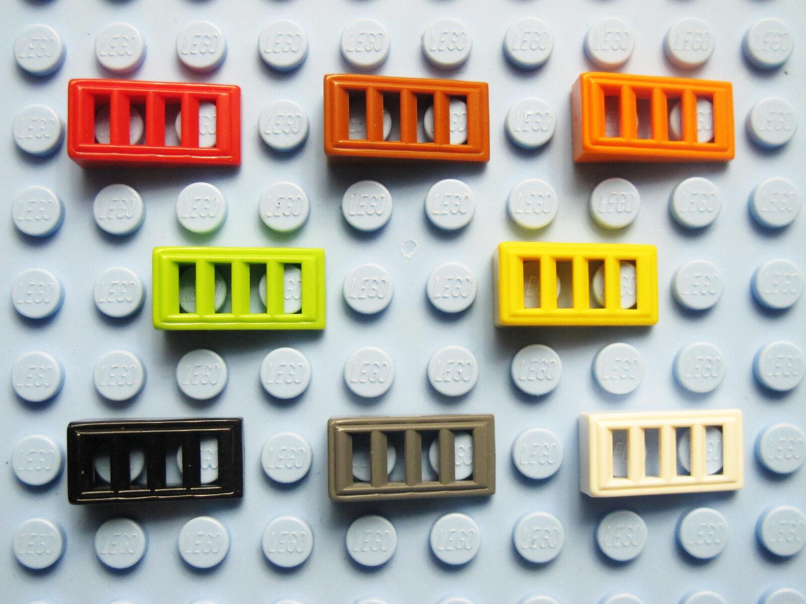 noir, black Slope 1x2 Slots NEUF NEW 8 x LEGO 61409 Brique Pente Grille