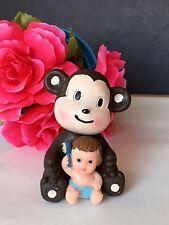 1PC Baby Shower Monkey Cake Topper Decorations Animals Safari Figurines  Jungle