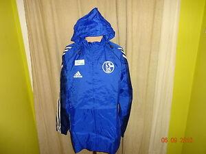 FC-Schalke-04-Adidas-Spieler-Wind-Regenjacke-034-Victoria-Versichert-034-Gr-M-L