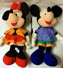 BIG SPORTY MICKEY & MINNIE PAIR of PLUSH from Japan-ship free