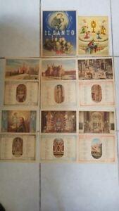 Calendario 1950.Details About Vintage Catholic Christian Calendar Calendario 1950 Il Santo Italy 12x8 5