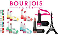 BOURJOIS ROUGE / SHINE EDITION FULL SIZE LIPSTICK RED PEACH PINK BROWN  *CHOOSE*