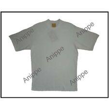 100% Egyptian Plain Cotton T Shirt Undershirt T-Shirt half Sleeve Ivory Large