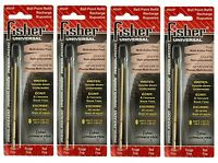 Four Fisher Space Pen Su2f / Red Ink su Series Universal Refills