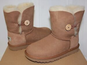 75f0a944868 Details about Ugg Kids Bailey Button II 2 chestnut suede boots 1017400K NEW  With Box