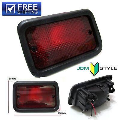 Jdm Style Rear Bumper Red Fog Brake Light Lamp For Honda Toyota Subaru Mazda