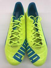 item 3 New PUMA evoSPEED 1.4 FG Mens Soccer Cleats   Atomic Yellow   Blue  size 10 ac334d617