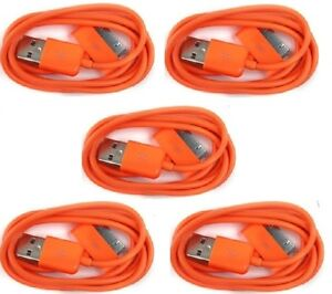 2X 10FT 30-PIN USB SYNC POWER CHARGER ORANGE CABLE CONNECTOR IPHONE 4S IPOD IPAD