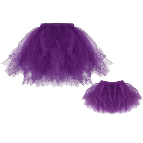 2pcs Mother Daughter Matching Dresses Set Net Yarn Princess Skirt Lace Outfits