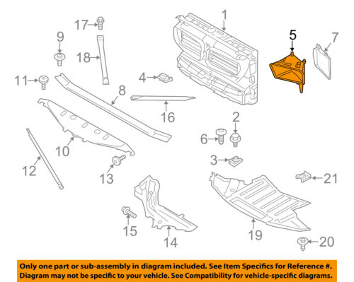 BMW OEM 13-16 M5 Radiator Core Support-Cooling Duct Right 51748047398