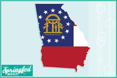 GEORGIA State Flag Vinyl Decal #1 Car Truck Window Sticker CUSTOM SIZES