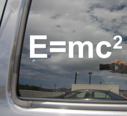 E=mc2 Einstein Physics Car Laptop Bumper Window Vinyl Decal Sticker 10335