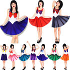 Sailor Moon Tsukino Usagi Costume Cosplay Fancy Dress Pleated Skirt Party Ball