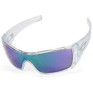 ff50eb69485 Oakley Batwolf OO 9101-54 Polished Clear Jade Iridium Men s Shield ...