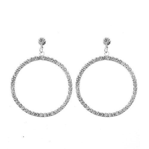 Diamond Ear Stud Large Hoop Earrings Rhinestone Trinket Geometric Women Jewelry