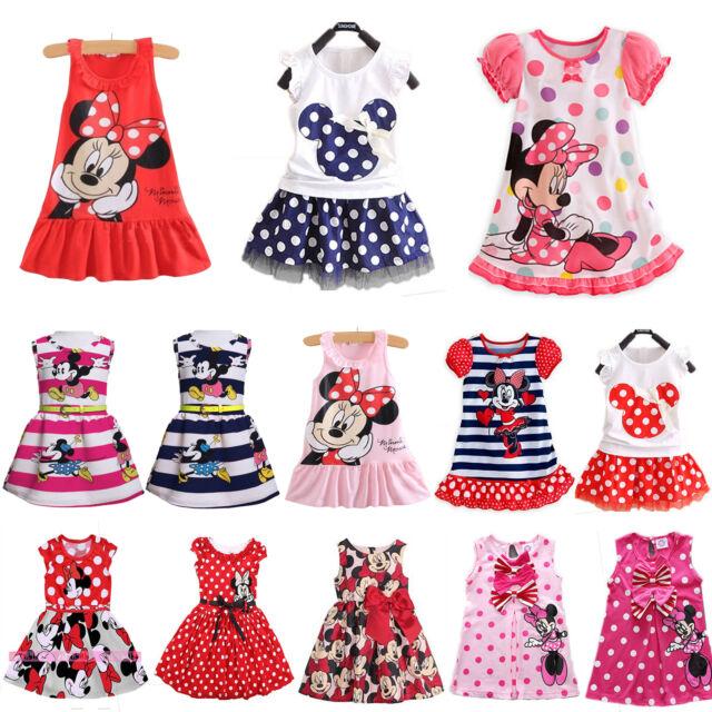 enfants bébé fille Mickey Minnie Mouse fête robe princesse jupe été vêtements