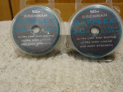 1  Spool of DRENNAN SUPPLEX  3.0lb £3.00 50 mt 0.129 MM diameter