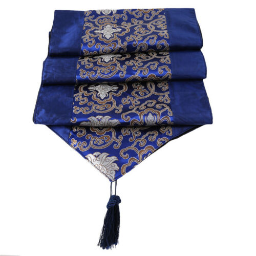 Decorative Fabric Table Runner Chinese Style Handmade Bed Flag Landscape J