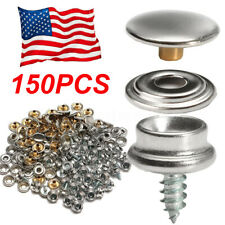 153x Snap Fastener 3//8/'/' Screws Button Socket Kit For Boat Marine