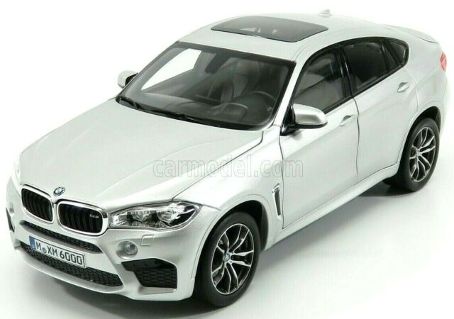 EXCELLENT NOREV 1/18 DIECAST 2015 BMW X6 M X6M IN SILVER 183200 OPENING FEATURES