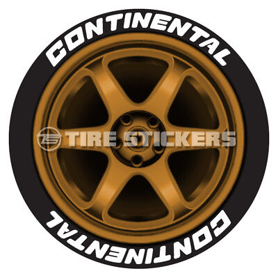 Continental Tire Stickers >> White Continental Tire Stickers 1 50 For 14 15 16 Wheels 8 Decals Ebay