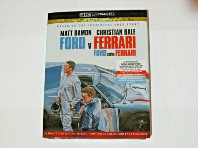 FORD V FERRARI (4K Ultra HD, Blu-ray, Incl. Digital Copy *NEW)