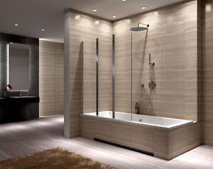 Duschwand Badewanne 2 3 teilige duschwand badewanne faltwand agat