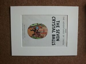 Tintin-The-Seven-Crystal-Balls-1962-First-Edition-Title-page-mounted-page
